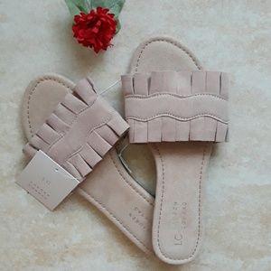 LC Lauren Conrad fancy slip on sandals